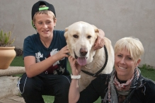 Bart with his foster family