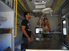 Inside the mobile clinic