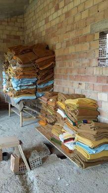 Stacks of blankets courtesy of Steve Wood